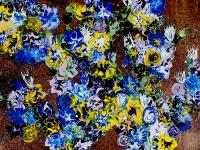 bloemen op brons